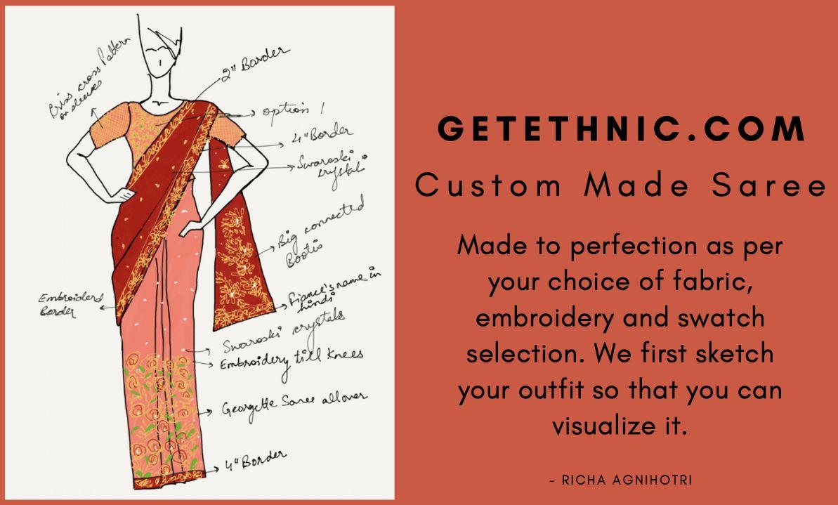 Custom Made Saree - GetEthnic.com