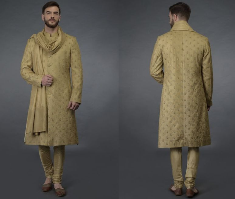 Lightly embroidered Guest Sherwani