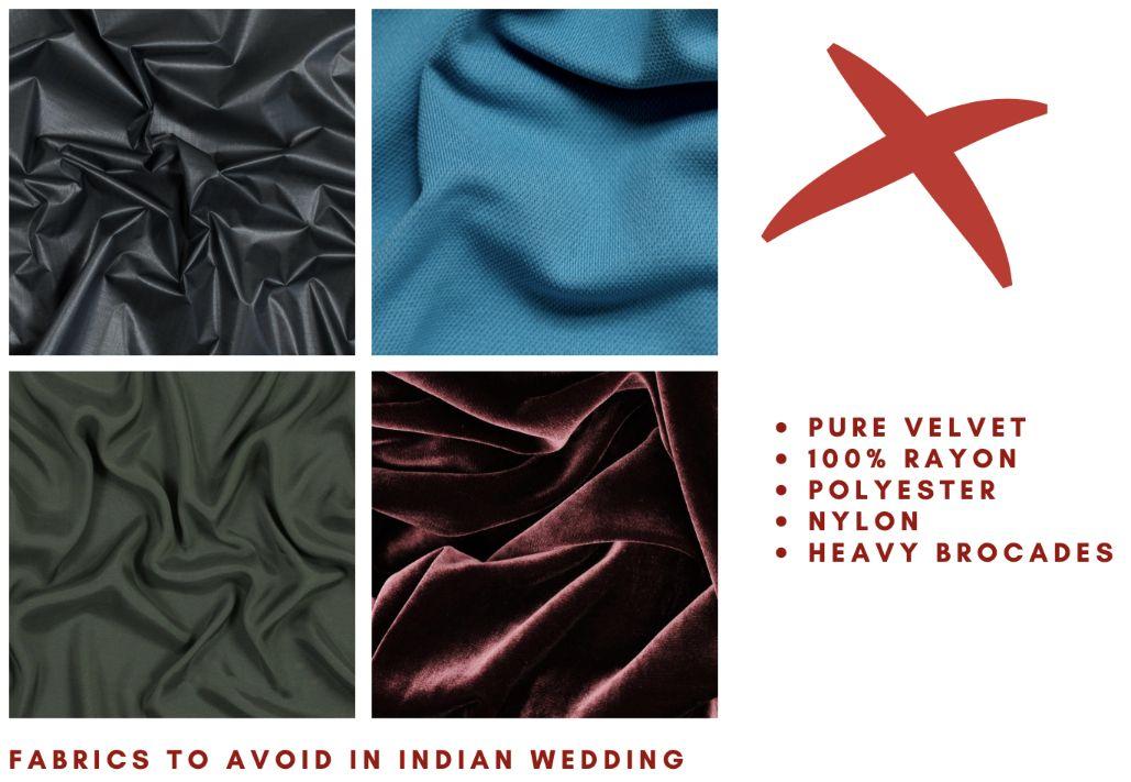 FABRICS to avoid in Indian wedding