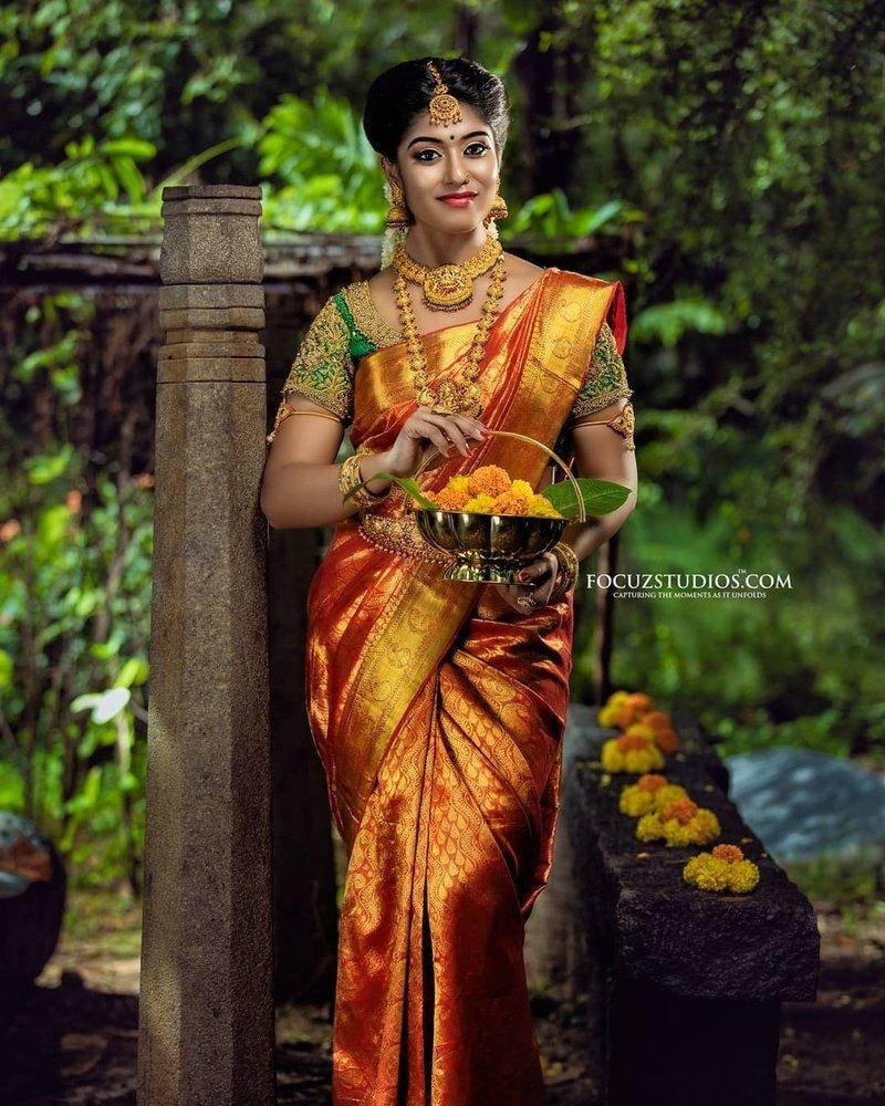 Traditional south Indian wedding saree
