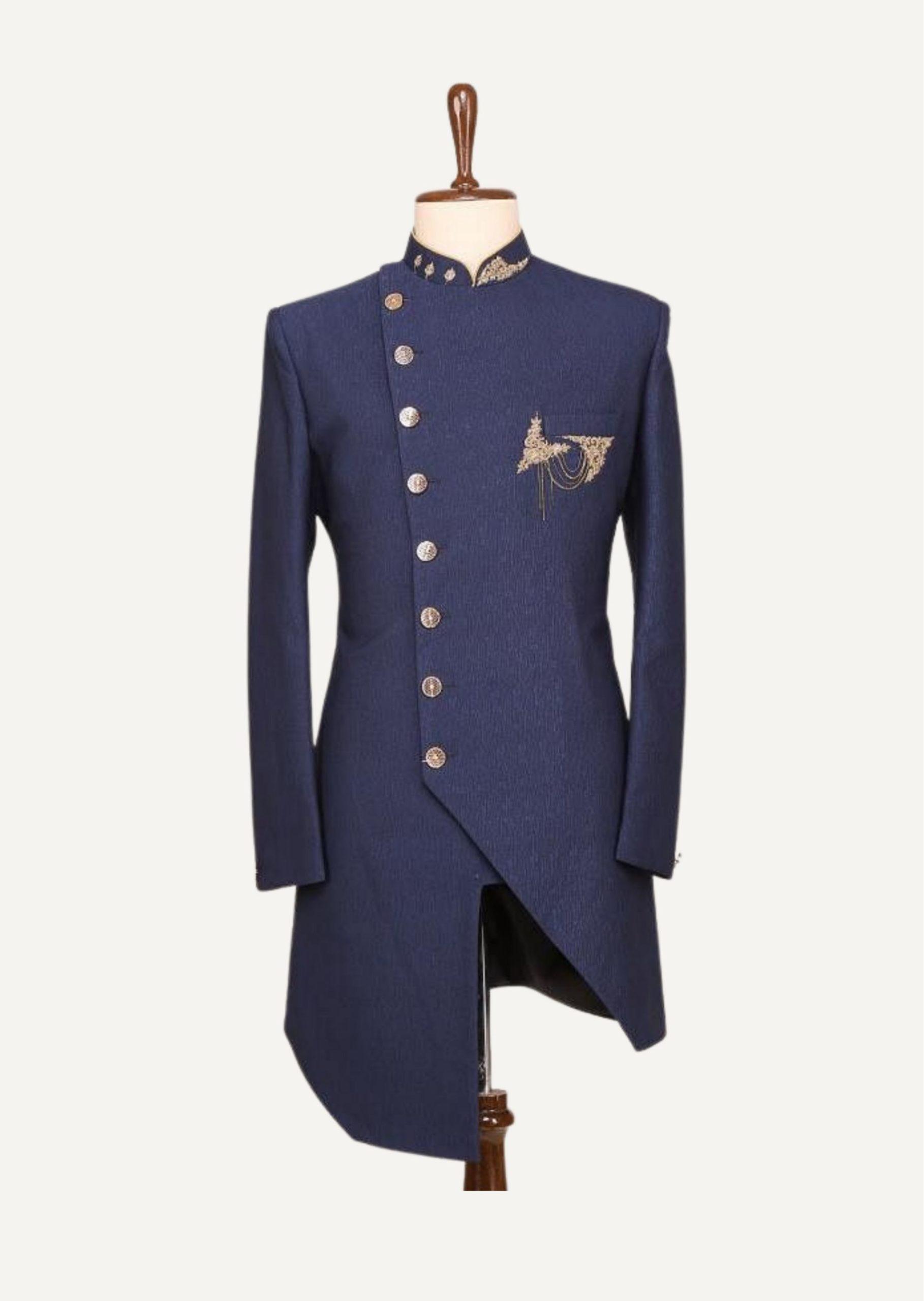 Royal Asymmetric Indo Western Jacket