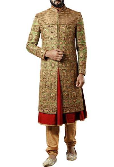 Embellished Three-Layer Royal Wedding Sherwani