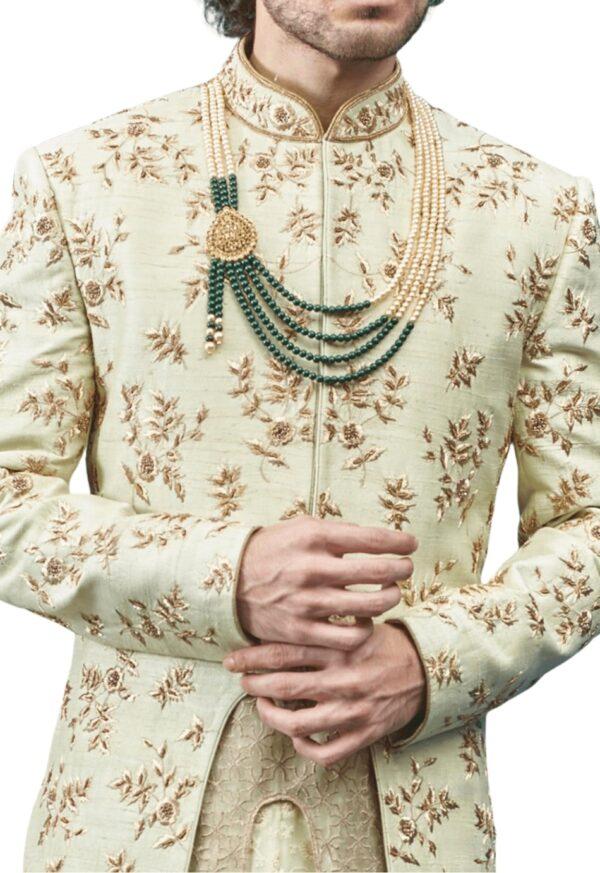 Lucknowi Three-Layer Wedding Sherwani