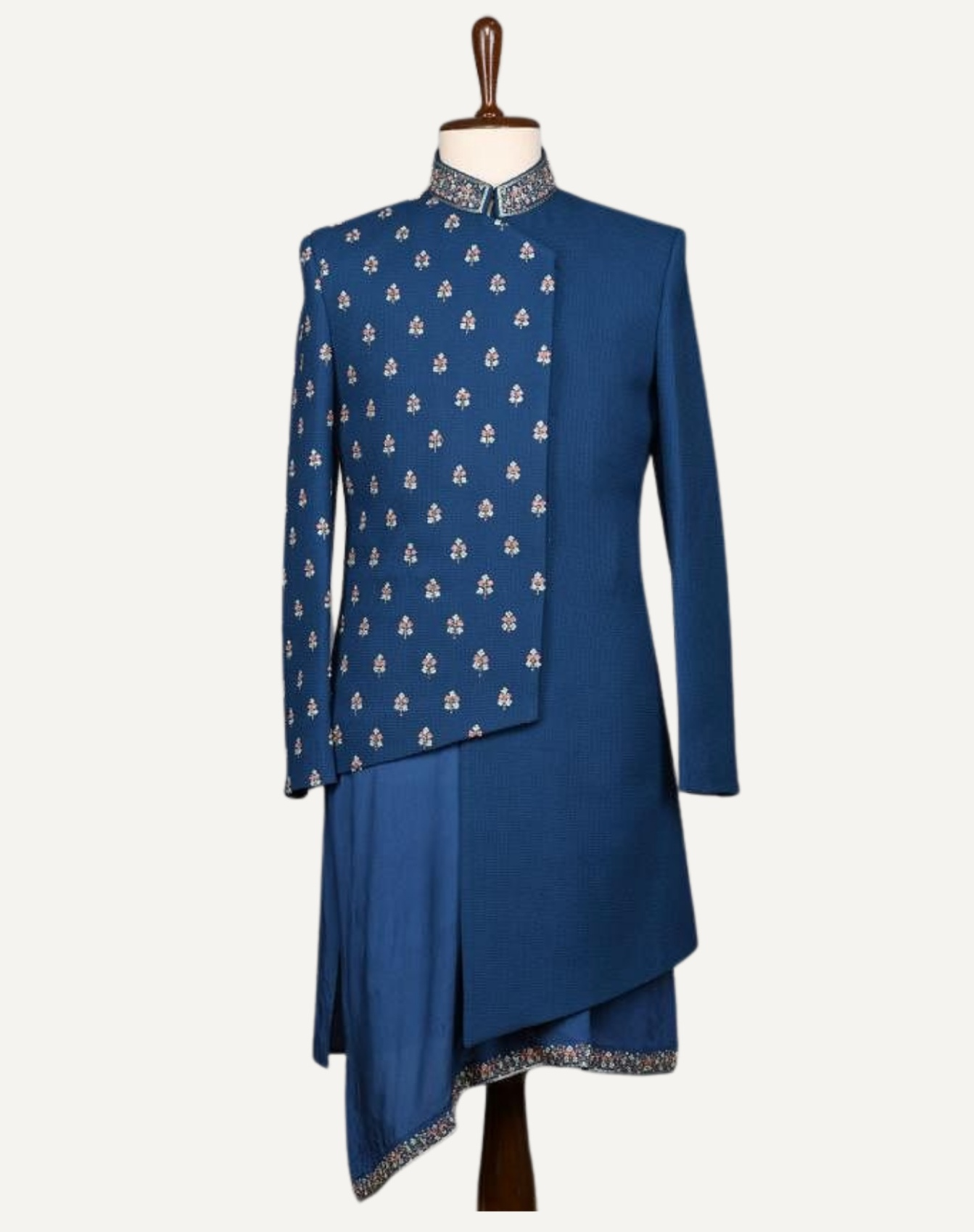 Royal Asymmetric Indo Western Pleated Jacket