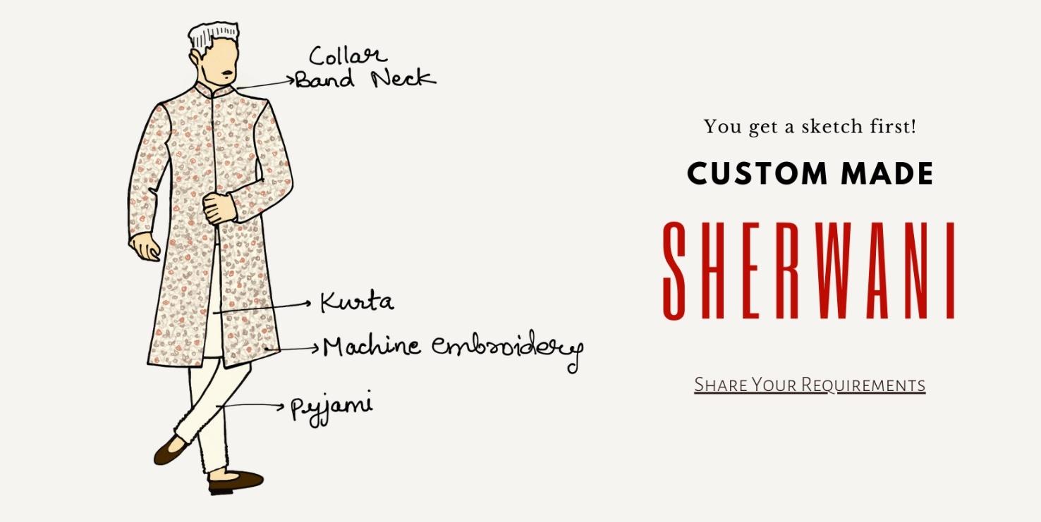 Custom Made Sherwani